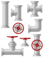 illustration vectorielle de tuyaux métalliques de l'industrie