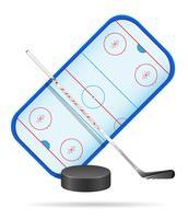 illustration vectorielle stade de hockey