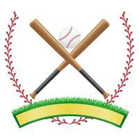 illustration vectorielle de baseball bannière emblème