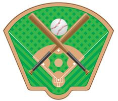 illustration vectorielle de baseball
