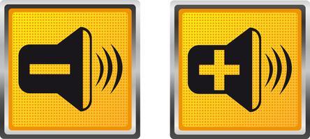 icônes sonores pour l'illustration vectorielle de conception