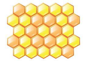 nids d'abeilles vecteur