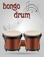 bongo batterie instruments de musique illustration vectorielle stock