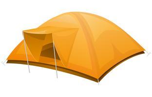 illustration vectorielle de tente touristique vecteur