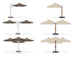 grand parasol pour bars et cafés sur la terrasse ou l'illustration vectorielle de plage