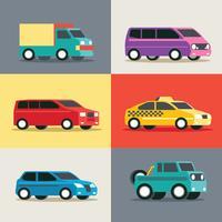 Ensemble de véhicule urbain vecteur