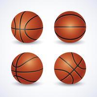 Vecteur de ballon de basket