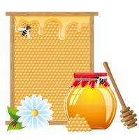 illustration vectorielle miel naturel