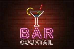 illustration vectorielle de rougeoyant enseigne au néon bière bar vecteur