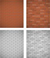 mur de fond sans couture de briques blanches et rouges vecteur