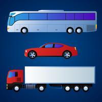 Jeu d'illustration de véhicule de transport vecteur