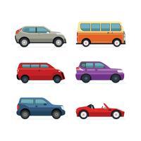 Ensemble d'illustration de véhicule de transport vecteur