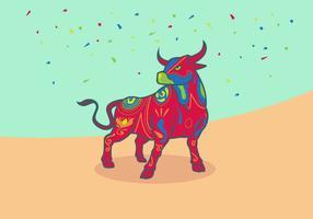 Illustration vectorielle de Bumba Meu Boi Bulls vecteur