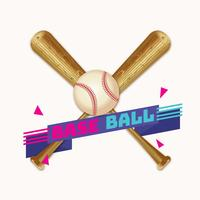 Baseball réaliste vecteur