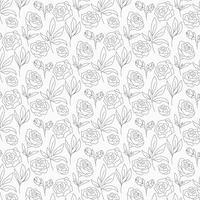 Modèle sans couture Floral contour Vector