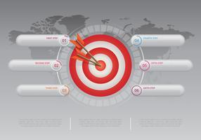 Coopération des objectifs infographique. Infographie de travail d'équipe.