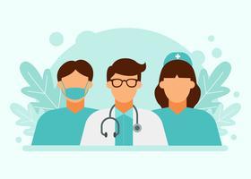 Caractères de la santé vecteur