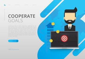 Infographie des objectifs de l'entreprise