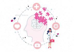Illustration de la santé mentale vecteur