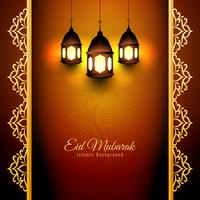 Design de fond abstrait Eid Mubarak vecteur