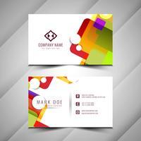 Abstrait élégant design coloré de carte de visite vecteur