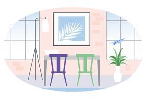 illustration de salle de designer de vecteur