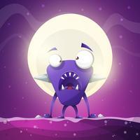 Peur, horreur, enfer, illustration de dessin animé. Animaux monstres. vecteur