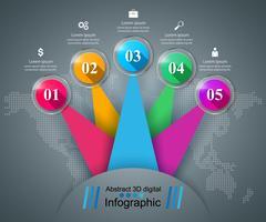 Abstract illustration numérique 3D infographique. vecteur