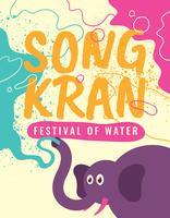 Festival de l'eau de Songkran vecteur