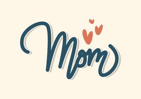 Lettrage de maman vecteur