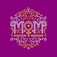 Typographie décorative de maman