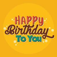 Joyeux anniversaire typographie Design