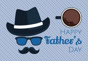 Illustration vectorielle de bonne fête des pères vecteur