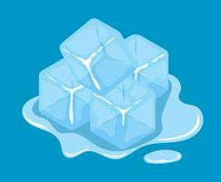 Clipart de cube de glace vecteur