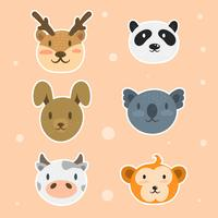 Sticker visage animal