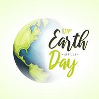 Contexte de la journée mondiale de la terre vecteur