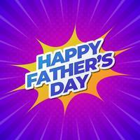 Bonne bannière pour la fête des pères vecteur