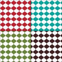 Motifs de tuiles arabesques colorés marocains vecteur