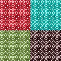 motifs de carreaux marocains sans soudure vecteur