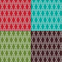 motifs de carreaux de contour marocains ornés vecteur