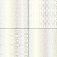 motifs marocains argentés et blancs métallisés vecteur