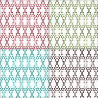 motifs de carreaux marocains ornés vecteur
