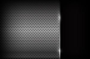 Illustration vectorielle eps10 001 acier chrome foncé abstrait