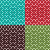 Motifs de tuiles sans couture arabesques marocaines vecteur
