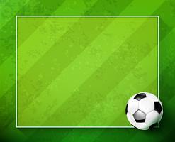 Ballon de foot avec terrain de verre vert 002