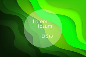 vague verte et fond de nature abstraite