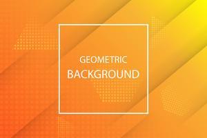 fond géométrique orange et jaune vecteur