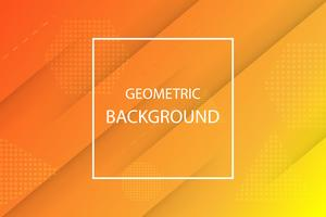 fond géométrique orange et jaune