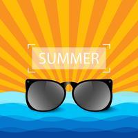 Fond d'été de lunettes de soleil vecteur