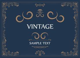 Carte de voeux d'ornement vintage vecteur
